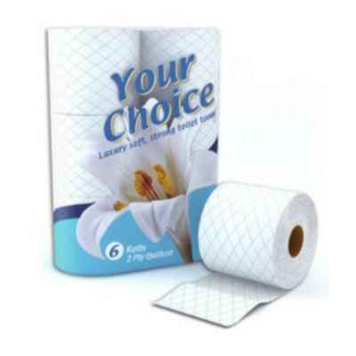 YOUR CHOICE  T/T 2PLY 6 ROLL X 10 WHITE