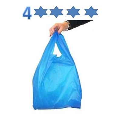 4STAR LARGE MD BLUE/GREEN CARRIER BAGS 1000S