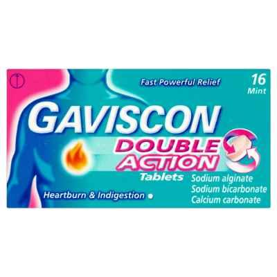 GAVISCON DOUBLE ACTION TABLETS 16S X 6