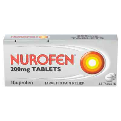 NUROFEN TABLETS 200MG 12S X 12