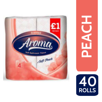 AROMA PERFUMED T/T 2PLY 4 ROLL X 10 PEACH PM?
