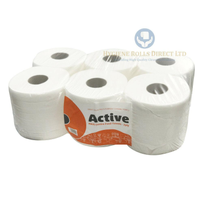 WHITE 180MM CONTRACT ROLL 65M X 6
