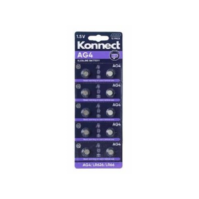 AG4 /  L626 ALKALINE BUTTON CELL CARD OF 10