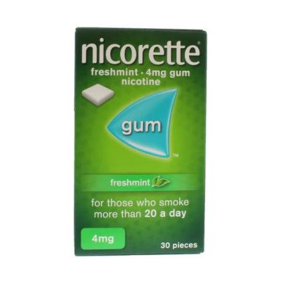 NICORETTE 4MG CHEWING GUM FRESH MINT 30S