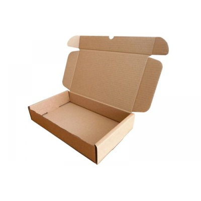 BROWN DIE CUT PARCEL BOX 236 X 196 X 47 MM