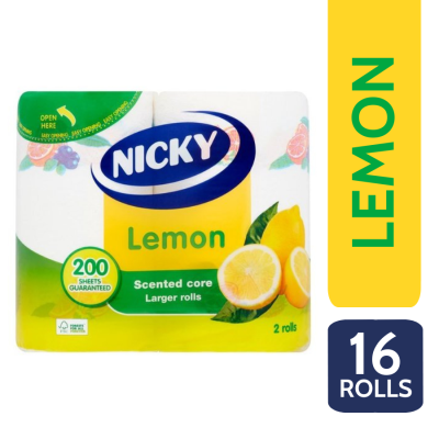 NICKY LEMON K/T 2PLY 2 ROLL X 8