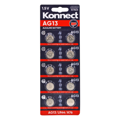 AG13 /  L1154 ALKALINE BUTTON CELL CARD OF 10