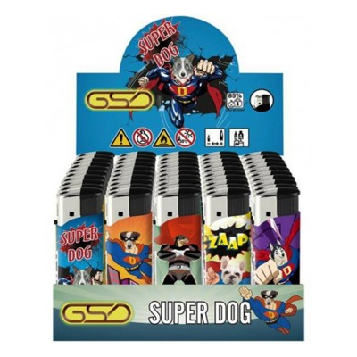 GSD ELECTRONIC LIGHTER SUPER DOG DESIGN 50S