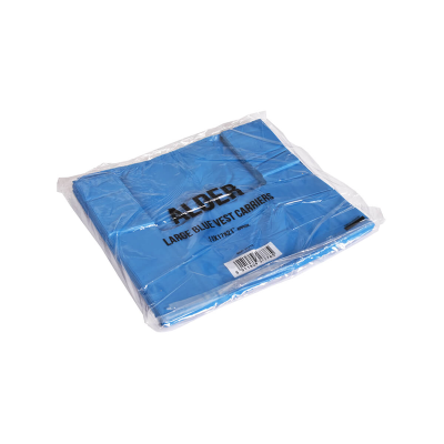 ALDER LARGE BLUE CARRIER BAGS 23mu 800S