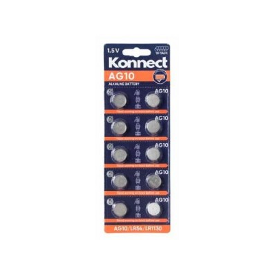 AG10 /  L1131 ALKALINE BUTTON CELL CARD OF 10