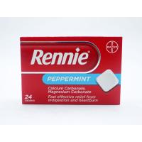 RENNIE PEPPERMINT 24 TABLETS X 8