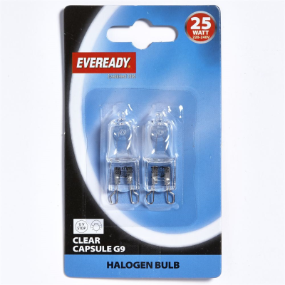 EVEREADY HALOGEN G9 CAPSULE 25W 2PK