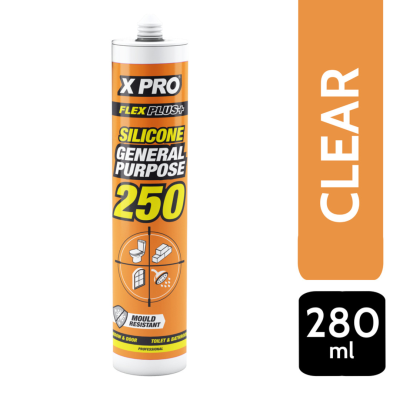 XPRO GENERAL PURPOSE SILICONE SEALANT - CLEAR