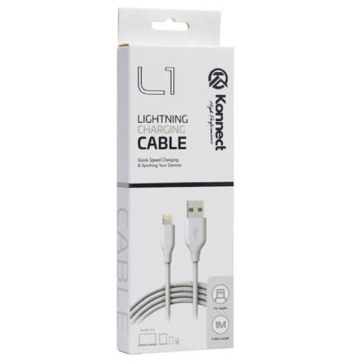 USB IPHONE LEAD WITH LIGHTNING CONNECTION 1 M