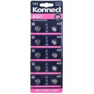 AG1 /  L621 ALKALINE BUTTON CELL CARD OF 10
