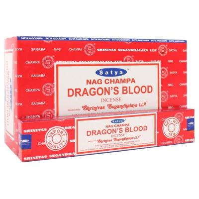 SATYA DRAGON BLOOD INCENSE STICKS 15G 12PK