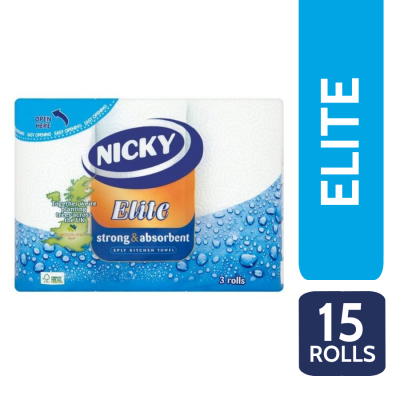 NICKY ELITE K/T 3PLY 3 ROLL X 5